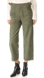 Citizens Of Humanity Kendall Surplus Wide Pants Sergeant Green