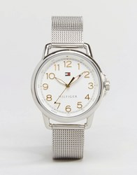 Tommy Hilfiger Silver Mesh Casey Watch 1781658 Silver