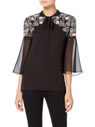 Raishma Boho Sequin Shirt Black