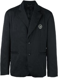 Versace Two Button Blazer Black