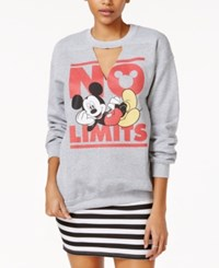 Disney Juniors' Mickey Mouse Graphic Sweatshirt Heather Grey