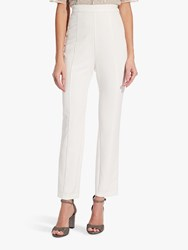 Adrianna Papell Crepe Slim Trousers Ivory