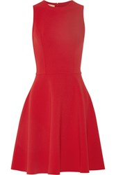 Michael Kors Collection Stretch Wool Dress Red