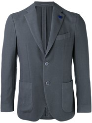 Lardini Patch Pocket Blazer Grey