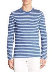Lacoste Striped Long Sleeve Tee Ink Silver