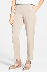 Women's Eileen Fisher Tapered Lightweight Twill Ankle Pants Limestone