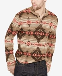 Denim And Supply Ralph Lauren Men's Southwestern Henley Brown