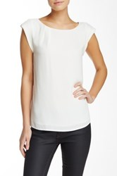 Cynthia Steffe Rolled Cap Sleeve Blouse White
