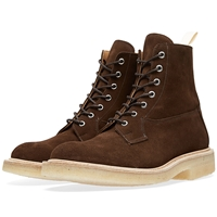 Trickers End. X Tricker's Crepe Sole Super Boot Chocolate Repello Suede