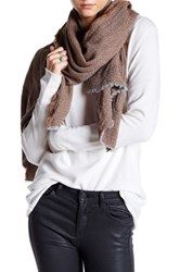 Italca Oxford Cashmere Blend Yarn Scarf Brown