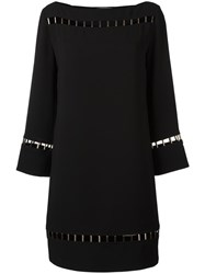 Versace Collection Perforated Details Dress Black