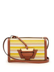 Loewe Barcelona Stitches Leather Shoulder Bag Yellow Multi