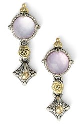 Women's Konstantino 'Iliada' Double Drop Earrings Pink