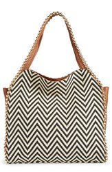 Big Buddha 'Grayson' Hobo Green Zigzag Cognac Trim