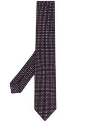 Ermenegildo Zegna Pin Dots Embroidered Silk Tie 60