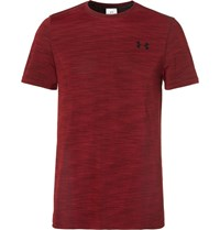 Under Armour Threadborne Seamless Melange Training T Shirt Burgundy