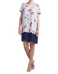 Paper Crown Short Sleeve T Shirt Dress Poppy Print
