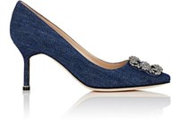 Manolo Blahnik Women's Hangisi Denim Pumps Blue