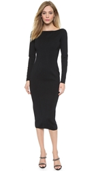Wgaca Alaia Long Sleeve Dress Black