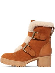 See By Chloe 40Mm Brandie Suede And Fur Ankle Boots Brown