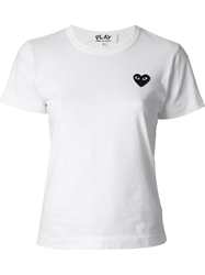 Comme Des Garcons Play Heart Patch T Shirt White