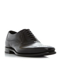 Barker Finch Punched Toe Cap Oxford Shoes Black