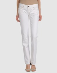Shaft Denim Denim Trousers Women White