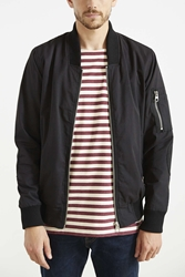 Kill City Flannel Patch Bomber Jacket Black