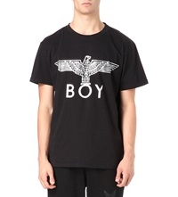 Boy London Eagle Foil T Shirt Black Silver