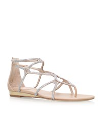 Rene Caovilla Embellished Gladiator Sandals Female Gold