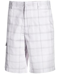 Greg Norman For Tasso Elba Men's Big And Tall Plaid Golf Shorts Only At Macy's Bright White