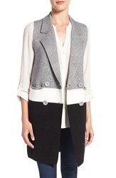 Love Token Women's Colorblock Knit Long Vest