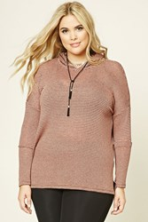Forever 21 Plus Size Hooded Striped Top