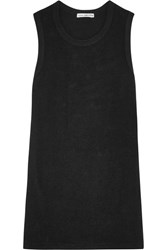 James Perse Brushed Cotton Blend Jersey Tank Black