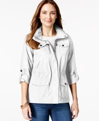 Styleandco. Style And Co. Sport Petite Zip Pocket Hooded Anorak Only At Macy's