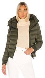 Soia And Kyo Tiphanie Puffer Jacket In Olive. Army