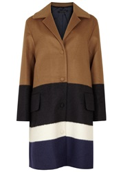 Mother Of Pearl Montiague Striped Wool Blend Coat Beige And Other