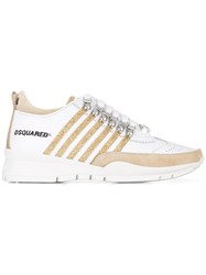 Dsquared2 251 Striped Sneakers White