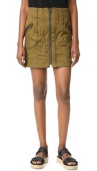 Veronica Beard Linda Summer Cargo Skirt Army
