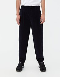 A Kind Of Guise Pleated Wide Corduroy Trouser Dark Navy