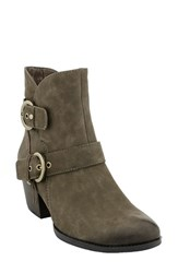 Earthr Women's Earth 'Olive' Moto Boot Stone Vintage Leather