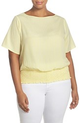 Michael Michael Kors Plus Size Women's 'Rilyn' Kimono Sleeve Top Citrus