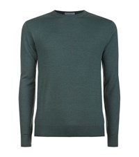 Gieves And Hawkes Silk Blend Crew Neck Jumper Male Green