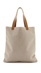 Bop Basics Metallic Canvas Tote Metallic Grey