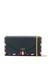 Thom Browne Chain Strap Cross Body Bag Blue