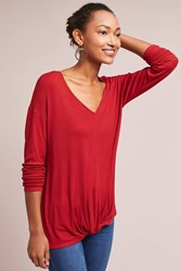 Bordeaux Ribbed Twist Red