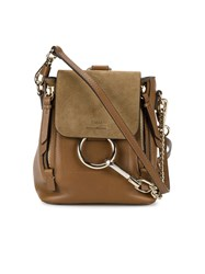 Chloe Mini Faye Backpack Women Leather Suede One Size Brown