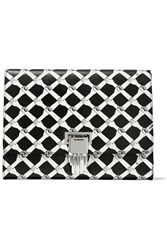 Opening Ceremony Nokki Printed Textured Leather Clutch Black