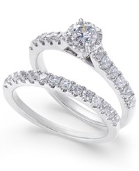 Macy's Diamond Round Bridal Set 1 Ct. T.W. In 14K White Gold