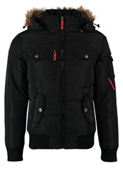Pier One Polar Bomber Winter Jacket Black